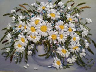 Продам: Ромашка 3D вышивка лентами картина домашний декор