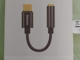 Переходник USB Type C - 3.5mm audio (aux) состояние нового 120р