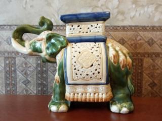Слон, керамика, винтаж. Высота - 40 см. Вес - 9 кг.