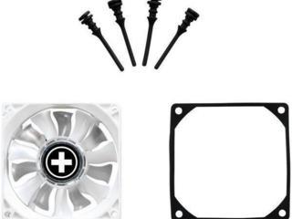 Dual Wing Fan LED 80mm XILENCE 1400RPM 26CFM 13dB резиновое крепление!