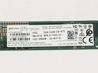Продам M2 SSD на 256 g (рабочий)(MTFDDAV256TBN-1AR15ABHA)(шустрый)