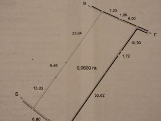 Двухсторонний участок прямоугольный, 6 соток. Г/акт.