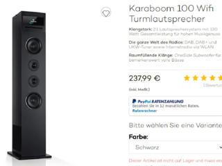 Auna Karaboom 100 Wi - Fi, CD, USB, Блютуз. Германия.