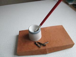 Кто-то спрашивал!! Чернильница непроливайка и перьевые ручки! 12$.