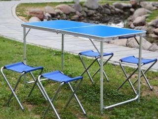 Складной столик и стулья (чемодан)