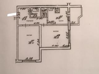 Продам 2-х комнатную квартиру, 13/17, кухня 9 кв. м.