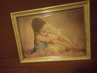Картина из пазла, из мозайки, из акварели.