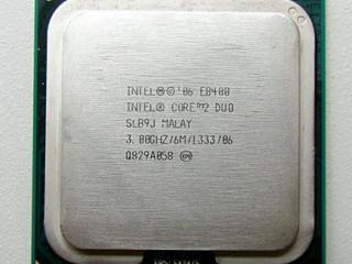 Intel Core 2 Duo E8400 2x3.00 Ghz, E6300 2x1.86 Ghz