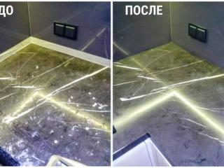 Реставрация / ремонт мраморных столешниц