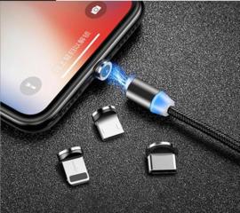 Магнитный зарядный кабель Micro USВ, Type C, Apple iPhone