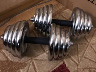 Гантели хром разборные 40 кг ПАРА в идеальном состоянии, как новые.