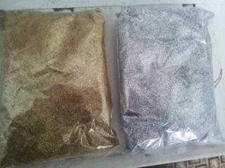 Золотые и серебряные блёстки (брокаты) Sopro.