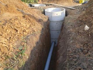 Бельцы Копаем канализации траншеи сливные ямы септики водопровод