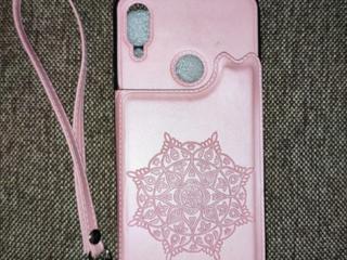 Новый кожаный чехол для Redmi Note 7/7 Pro нежно-розового цвета