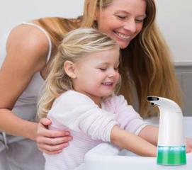 Автоматический диспенсер на батарейках дозатор для жидкого мыла для ванной,