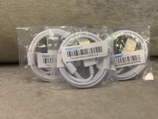 Кабель USB-Lightning (1м) для iPhone, iPod, iPad, AirPods