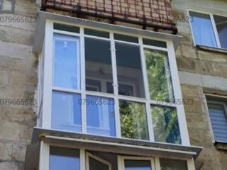 Балкон в хрущевку. Окна двери стеклопакеты. Ремонт балконов, кладка!
