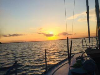 Закат На Парусной Яхте