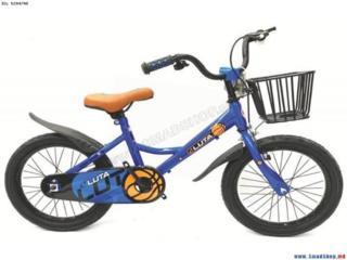 """Bicicleta pentru baieti 12"""" - Claxon + Cos + Frina de mina."""