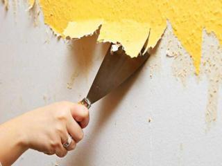 Снятие краски и шпаклевки, зачистка стен и потолков