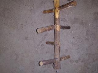 Домик и деревянная лесенка в клетку