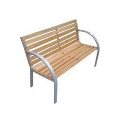 Scaun din metal și lemn natural p/u terasă, bar, vilă, rezistă 260 kg