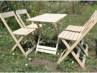 Продам дачный набор из 4 стульчиков и стола