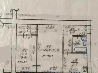 Продам 2-комнатную квартиру на 1 этаже.