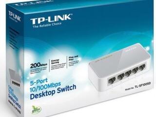 """Продаётся новый коммутатор настольный """"TР-Link"""" в упаковке. 5 портов."""