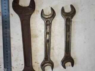 Ключи рожковые СССР в идеальном состоянии(3 шт)