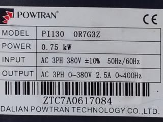 Трех фазный векторный частотный преобразователь PI130