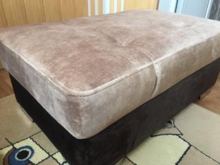 Продам новый пуфик из двойной комбинированной ткани, раскладной, ширина, 68