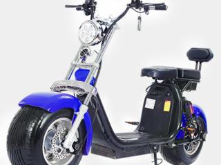 Электро скутер Citycoco Long 1500W, 60V12Ah, Black, Blue