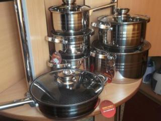 Набор посуды Swiss Family 18 в 1 + набор ножей