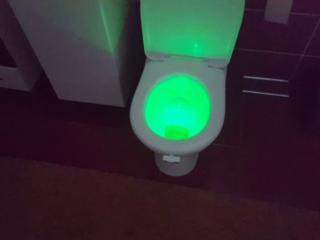 Подсветка LED для унитаза с датчиком движения 8 цветов.