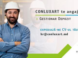 Compania Conluxart angajează: Gestionar Depozit