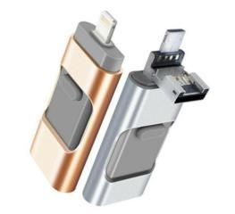 3 в 1 OTG USB Flash Drive 512 GB для iPhone/iPad/iOS/Android/PC