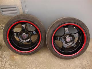 Продам диски borbet type t разноширокие r16/4x100/7.5j - 9j с резиной