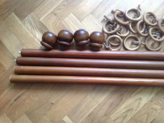 Карниз деревянный под орех Двойной 3,1 метра