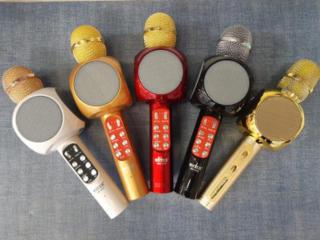 Наушники и караоке-микрофоны