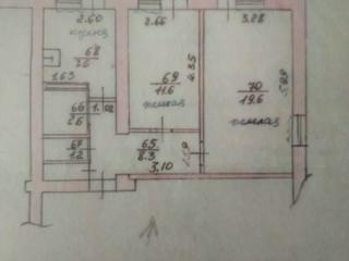 Продам 2-комнатную квартиру с автономным отоплением в г. Слободзея