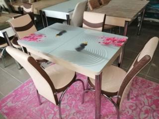 Продам стеклянный стол+ стулья 4500р