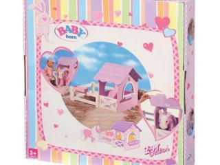 Деревянная конюшня для лошади Baby Born, наборы одежды для пупса Zapf