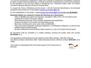 Tender GIZ for provision of electrical appliances and furniture