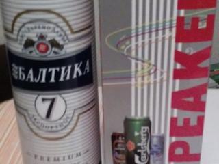 Портативная колонка Балтика 7,портативная колонка в виде банки пива