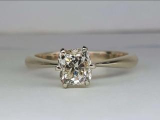 Кольцо с бриллиантом 1 ct