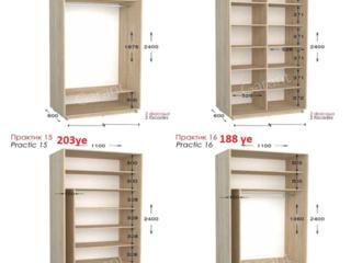 Шкафы купе Практик, цена с учетом фасадов ДСП