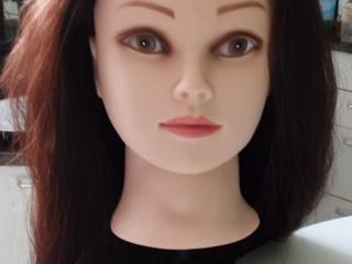 Продам модель головы, длина натуральных волос 50+см