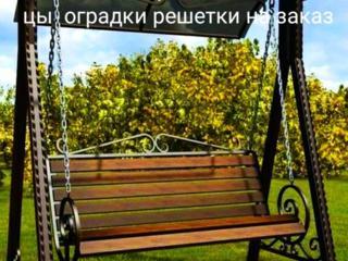 Дворовые скамейки, решетки столы, мангалы беседки качели ограды