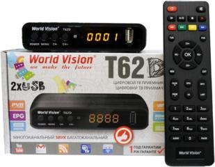 Dvb-T2 ресивер World Vision T62D Бесплатное Цифровое тв 20 каналов пмр